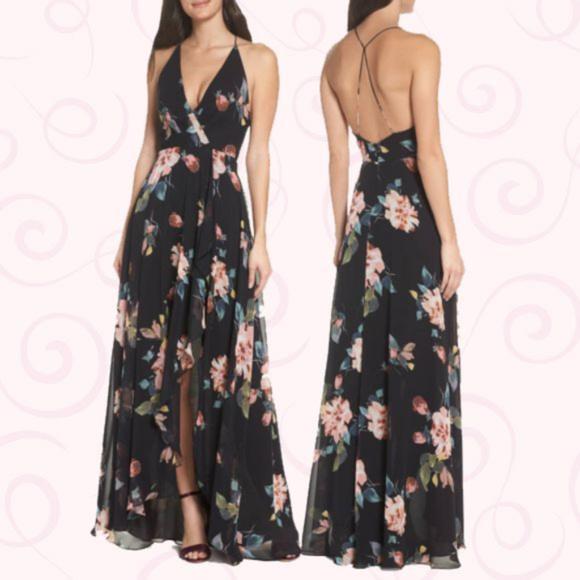 b97219e04c9b Jenny Yoo Dresses | Farrah Halter Floral Print Gown Nwt 10 | Poshmark